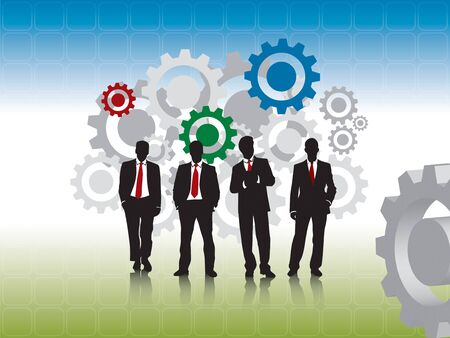 businessmen and project management Vector