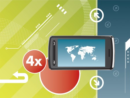 cell phone technological background Stock Vector - 7373992