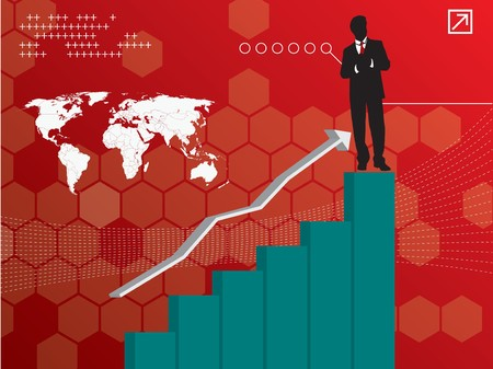 investment solutions: growth chart of investments with business success