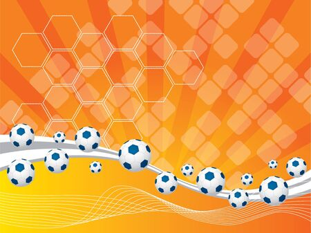 harmony idea: abstract background and soccer balls