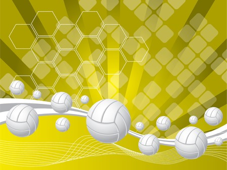 harmony idea: abstract background and Volleyballs Illustration