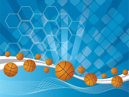 abstracte achtergrond en Volleyballs Stock Illustratie