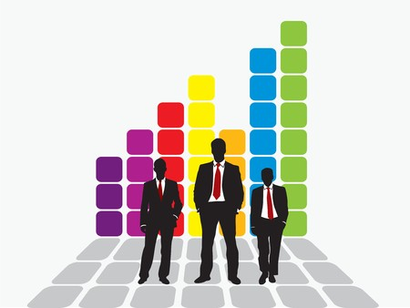 business team chart earning Stock Vector - 7877272