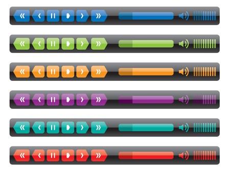 control panel: pannello di controllo di media player