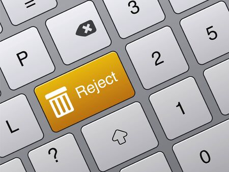 reject: yellow reject enter button on laptop