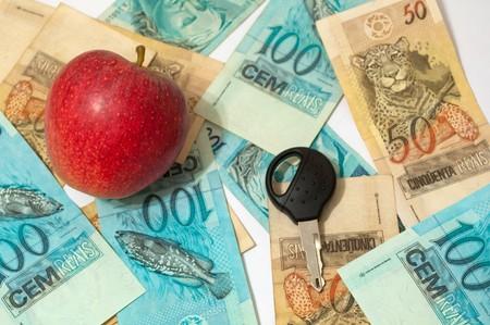 actividad econ�mica: actividad econ�mica en la venta de manzanas y compras bienes materiales con dinero ganado