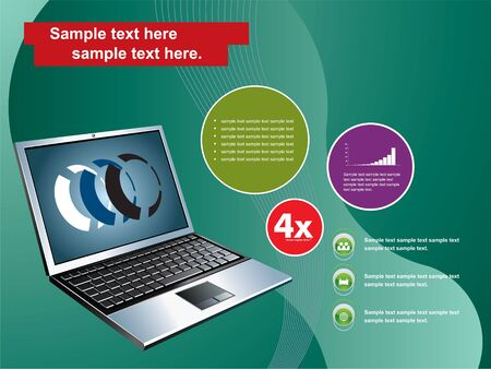 laptop on abstract background Vector