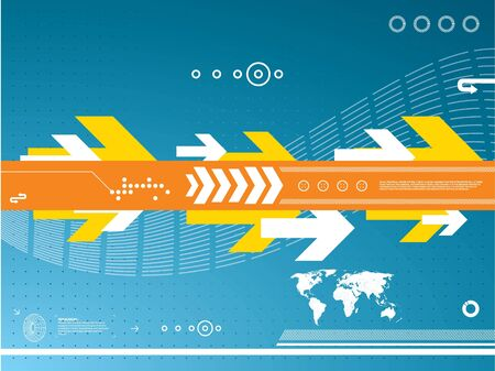 background abstract technology Vector