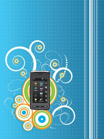 abstract background vector graphics created with cell phone technology in focus Vector