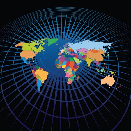 wereld kaart Stock Illustratie