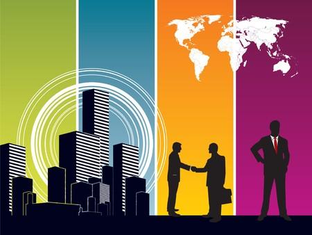 Succes en business silhouet