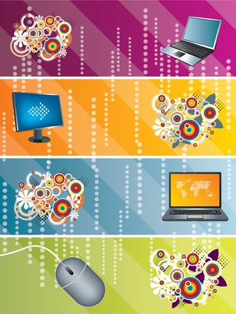 Computer Technology Background Stock Vector - 8062315