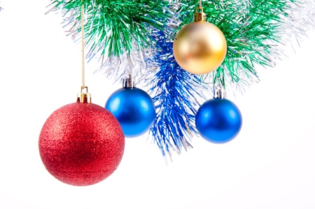 colored objects for decorating the Christmas and New Year photo