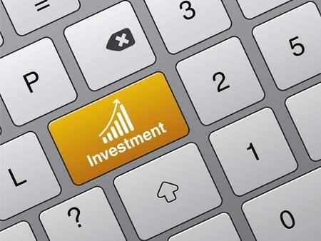 concept van succes in financiën, investeringen knop op de laptop