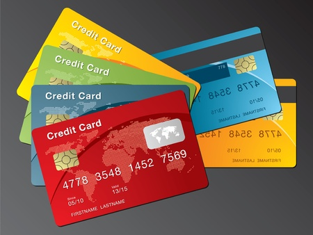 credit card in the financial business Vector