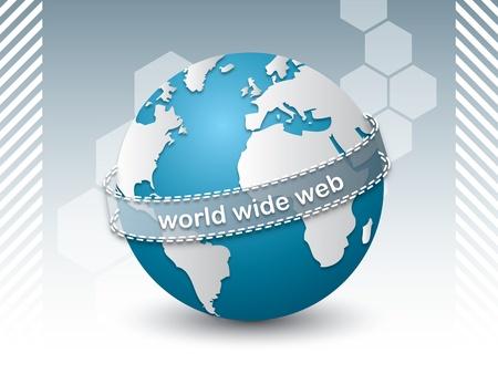 concept van de planeet aarde verbonden via het internet