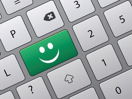 toetsenbord met pictogrammen om te stemmen in on-line-enquête Stock Illustratie