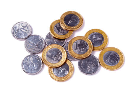 coins of the Brazilian money photo