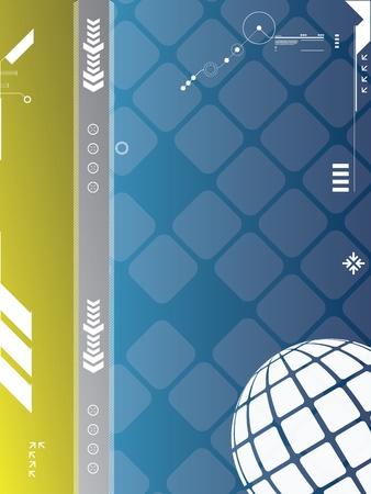 electronic elements: grafica vettoriale astratto creato con la tecnologia
