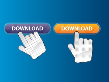 hand by clicking the search button on the Internet Vector