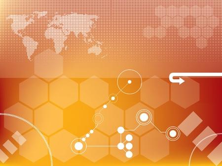 Résumé des graphiques vectoriels de fond créés avec la technologie Banque d'images - 10025201