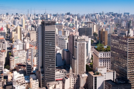 city ??of Sao Paulo with a view of the towers of the Paulista avenue