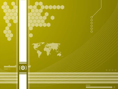 future advertising: Vector illustration background in technology and the world map