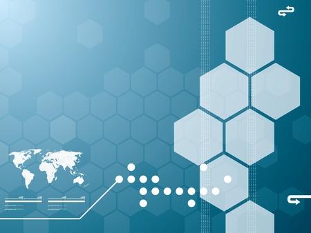 web commerce: Vettore sfondo illustrazione nella tecnologia e la mappa del mondo