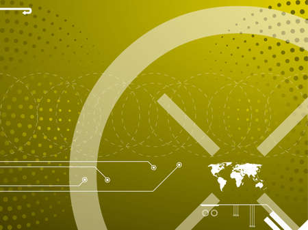 Vector illustration background in technology and the world map Vector