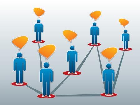 sociale netwerken tussen vrienden op het internet