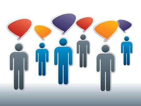Redes sociales entre amigos en Internet Foto de archivo - 11083792