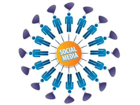 social networking between friends on the Internet Vector