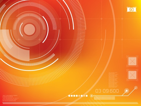 abstract background vector with elements in technology Vector