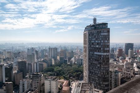 Edificio italiano en el centro de Sao Paulo, cerca de la Plaza de la República Foto de archivo - 14332241