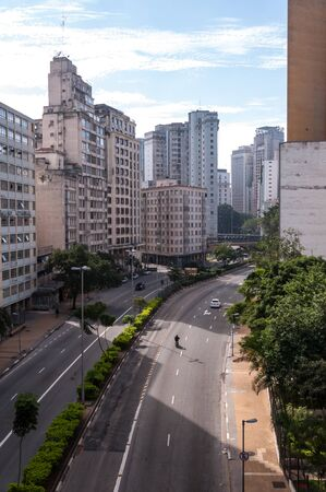 avenue July 9th  near the square flag in sao paulo Stock Photo - 14332235