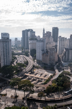Flag Square in downtown sao paulo, southeastern Brazil  photo