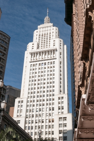 Banespa and Martinelli Building in downtown sao paulo on a sunny day