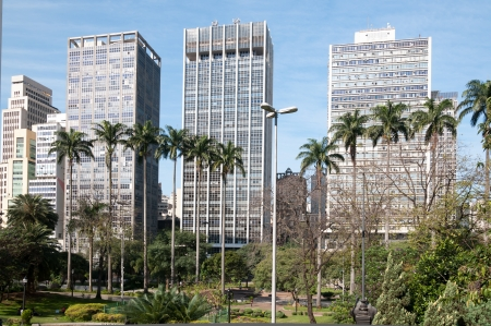 Buildings in the city of sao paulo, near the park Anhangabaú  photo