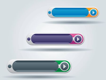 interface buttons for websites in vector illustration Vector