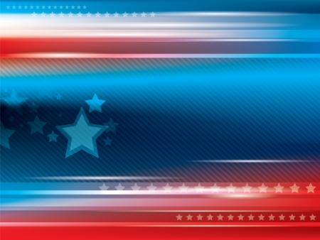 winning flag: Abstract bright blue and red background with stars Illustration