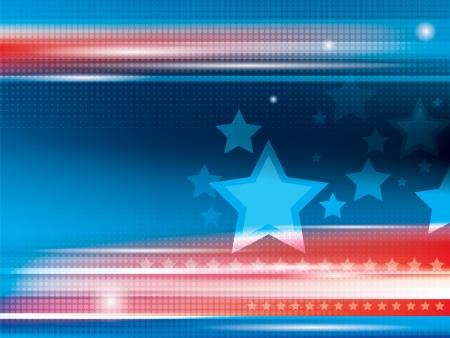 Abstracte heldere blauwe en rode achtergrond met sterren