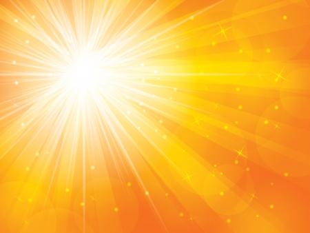 wschód słońca: abstrakcyjne tła w słoneczny ilustracji wektorowych