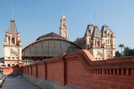 External architecture of the train station in Sao Paulo photo