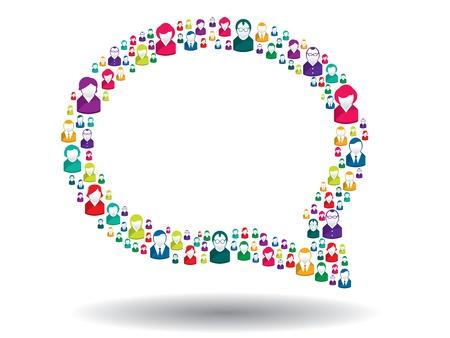 comunicación: burbuja de comunicación en la ilustración Vectores