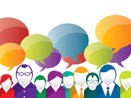 discussion and communication between people on business Stock Vector - 16847183