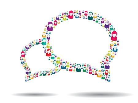kunden: Blase Kommunikation in vektor Illustration