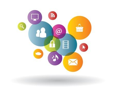 Integration between media and business generation Illustration
