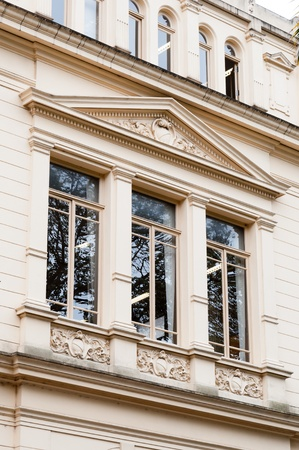 architectural styles: classic architectural style building in the city of sao paulo