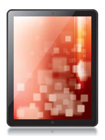 digital tablet: Digital tablet in illustration Illustration