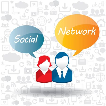Social network concept in multimedia Stock Vector - 17729220